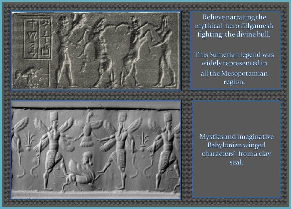 Mysthic figures from Sumeria and Babylon.