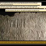 Stone relief representing the King Sennacherib palace and garden.