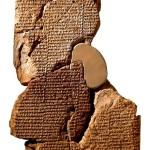 tableta de arcilla cuneiforme con la leyenda de Atrahasia. Museo Britanico.