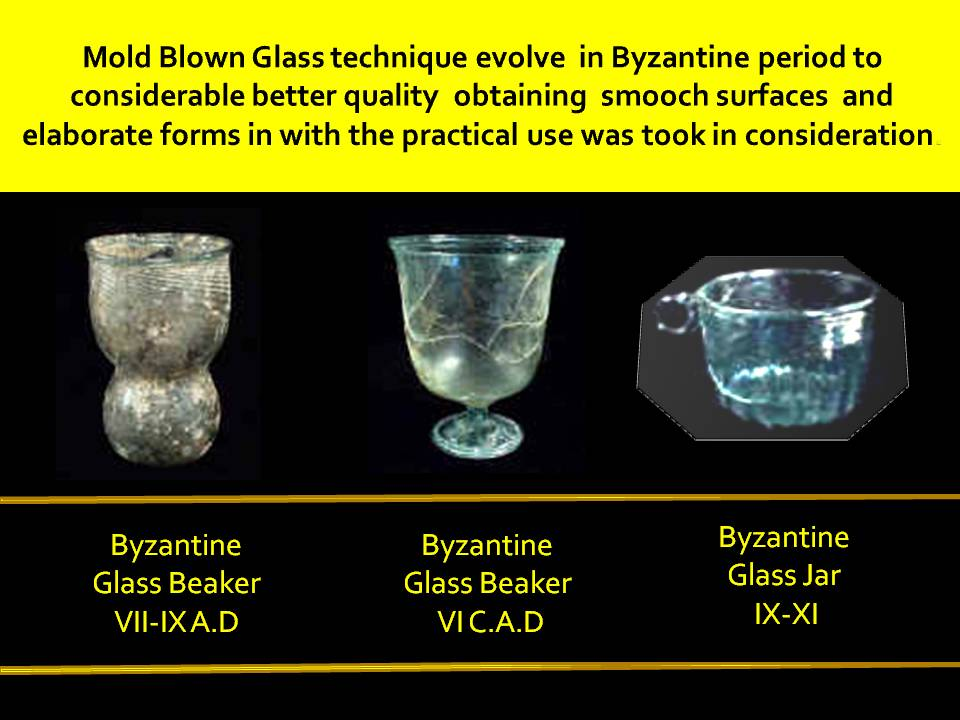 Byzantine glass jars