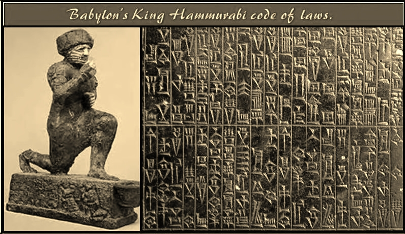 hammurabi code The code of hammurabi is the longest surviving text from the old babylonian period the code is an early example of a law regulating a government: a kind of primitive constitution the code is also one of the earliest examples of the presumption of innocence (innocent until proven otherwise)it suggests that both the accused and accuser have.