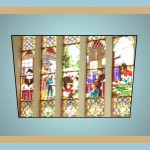 Byzantine window glass art work