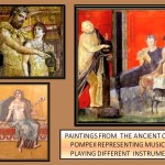 instruments in Pompeii paints
