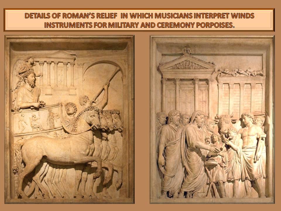 musicians in relief
