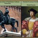 Heroic figures represented by Renaissance artist