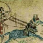 Assyrian painting. Til- Barsib palace.