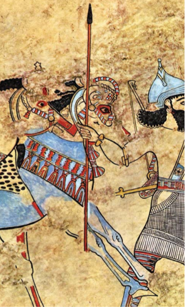 Assyrian Painting from the palace of  Til-Barsib