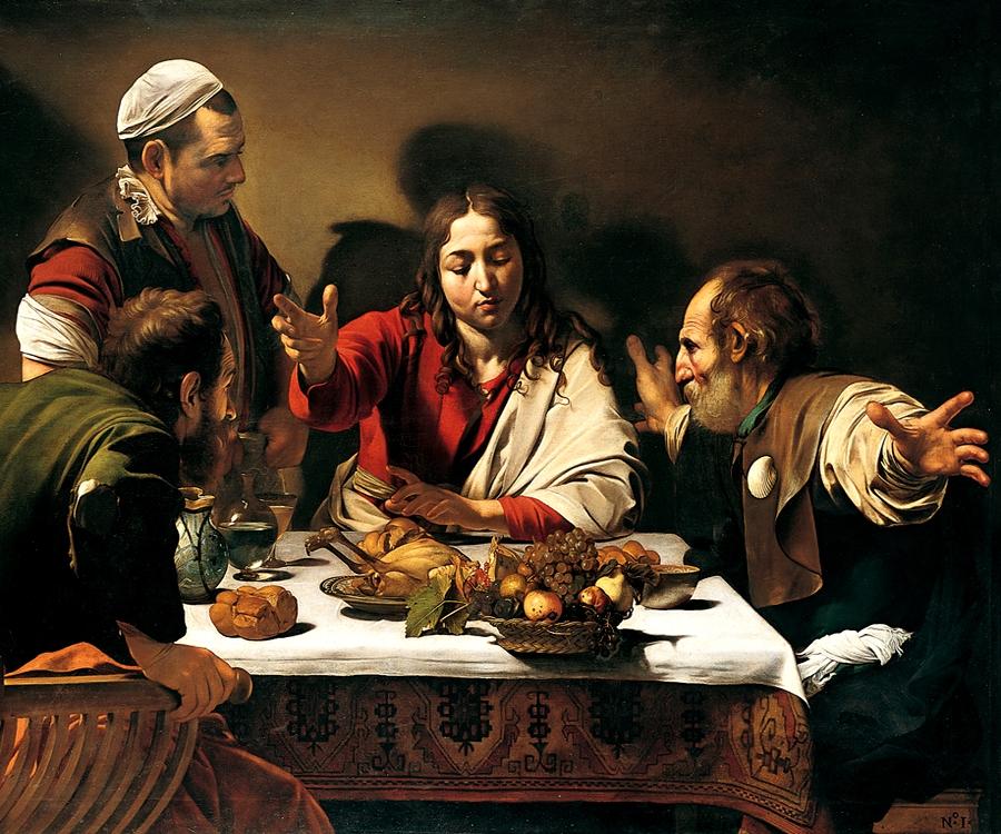 Cena in Emmaus. Caravaggio.
