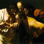 The incredulity of Saint Tomas. By  Caravaggio