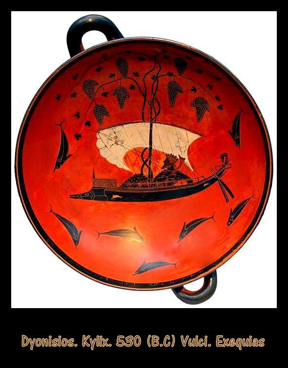 Dionysos. Kylix. 530 B.C Vulci. Exekias